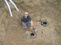 2 Bottom drains went into this 8 foot deep pond