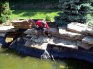 pond stone collapse