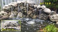 We also extended this pond and reset a lot of the stone