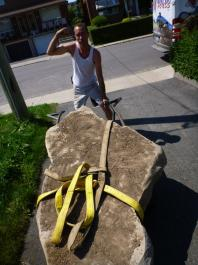 With a little skill rock carts can move large stone easily